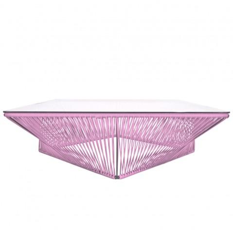 Table basse carrée VERACRUZ de Boqa, 100 x 100, Rose