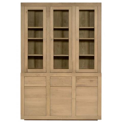 Vitrine OAK FLAT d'Ethnicraft, 6 portes / 3 tiroirs