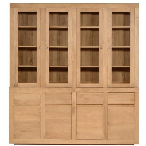 Vitrine OAK FLAT d'Ethnicraft, 8 portes / 4 tiroirs