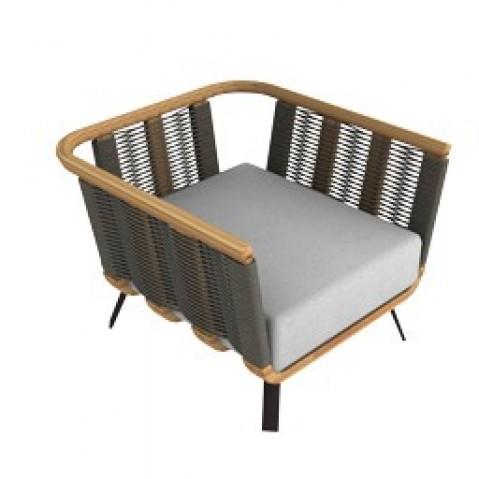 fauteuil welcome en teck et corde de unopiu 39. Black Bedroom Furniture Sets. Home Design Ideas