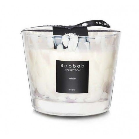Bougie White PEARLS de Baobab Collection, 5 tailles