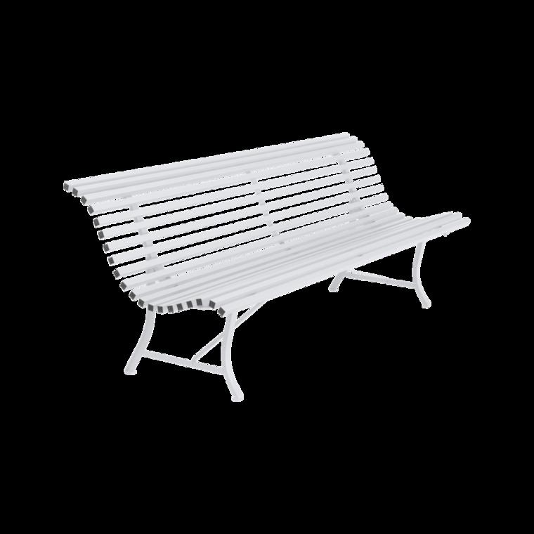 banc louisiane 200 de fermob blanc coton. Black Bedroom Furniture Sets. Home Design Ideas