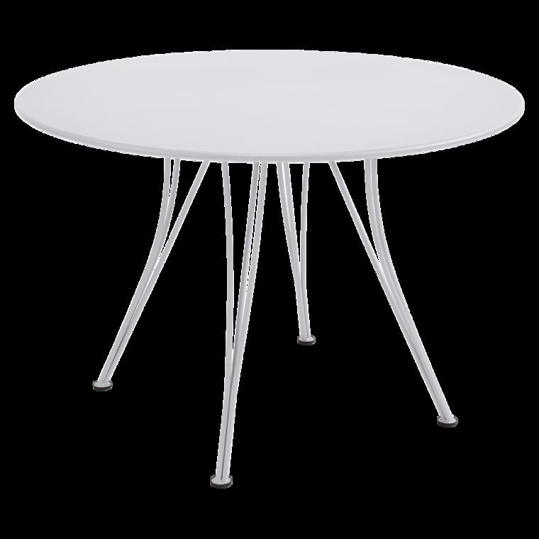 table ronde rendez vous de fermob blanc coton. Black Bedroom Furniture Sets. Home Design Ideas