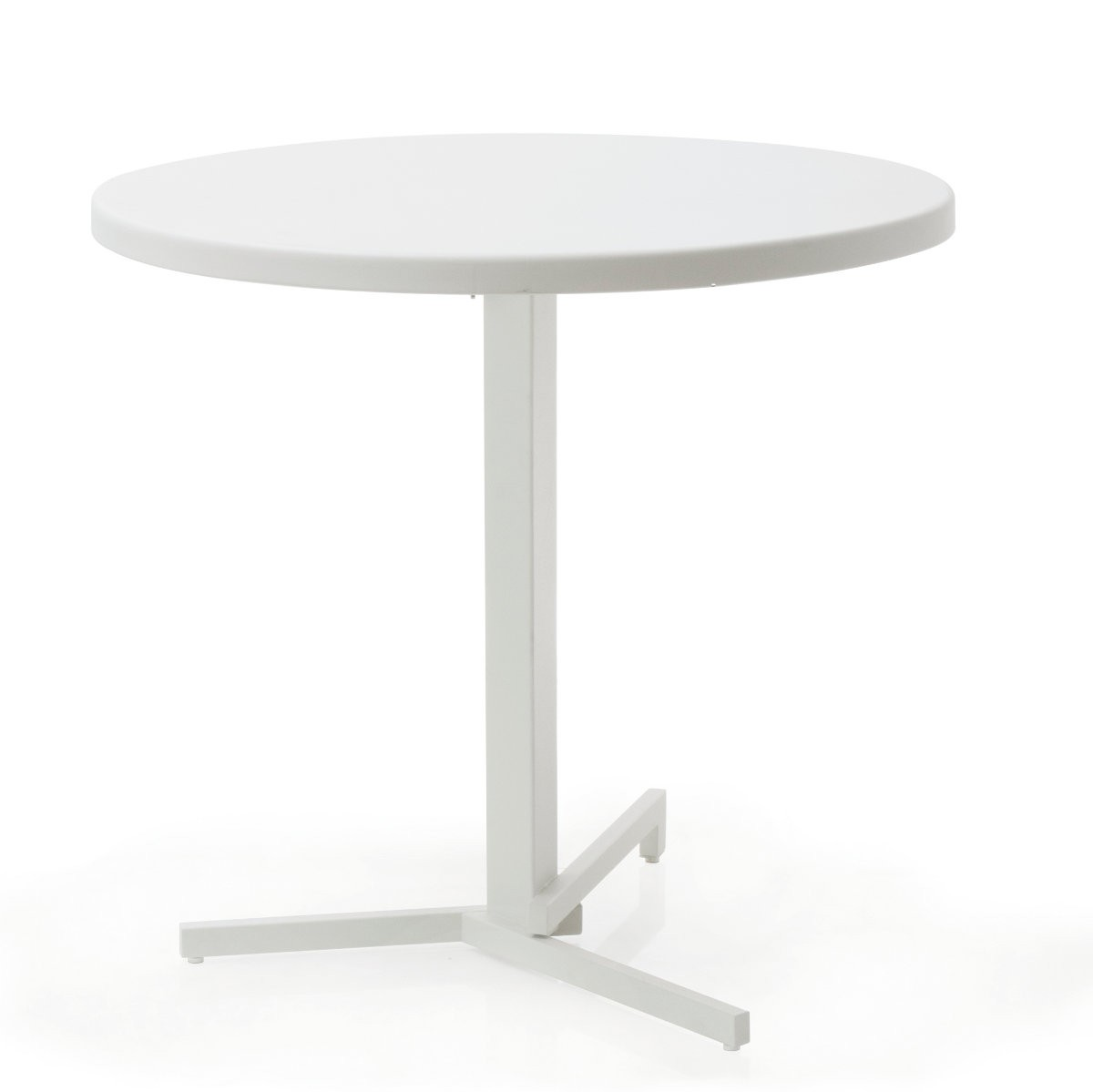 Table ronde mia de emu blanc for Table ronde blanc