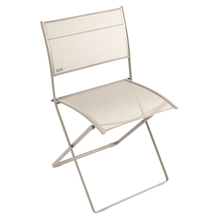 Chaise pliante plein air de fermob lin for Chaise de jardin fermob