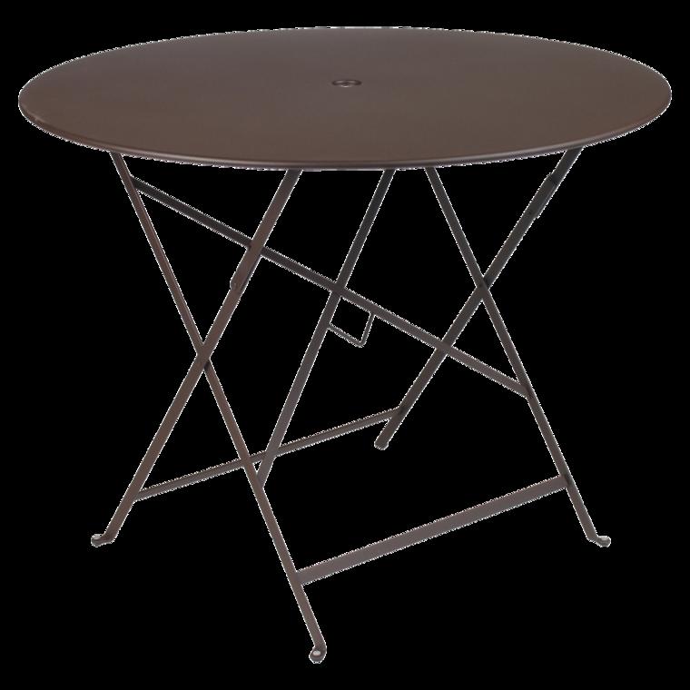 fermob table ronde pliante bistro de fermob x cm rouille. Black Bedroom Furniture Sets. Home Design Ideas