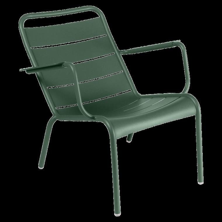 lounger chaise longue luxembourg de fermob couleur vert c dre. Black Bedroom Furniture Sets. Home Design Ideas