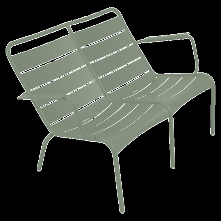 Lounger duo chaise longue de la collection luxembourg de fermob couleur vert verveine - Chaise fermob luxembourg ...