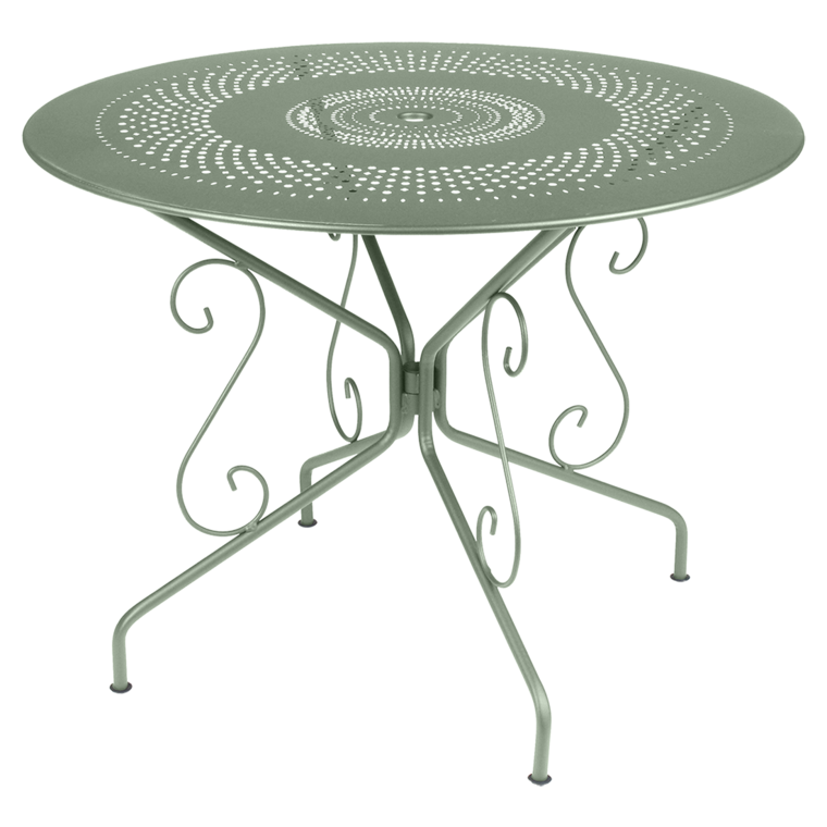 Table montmartre de fermob cactus - Table de jardin plastique vert saint paul ...