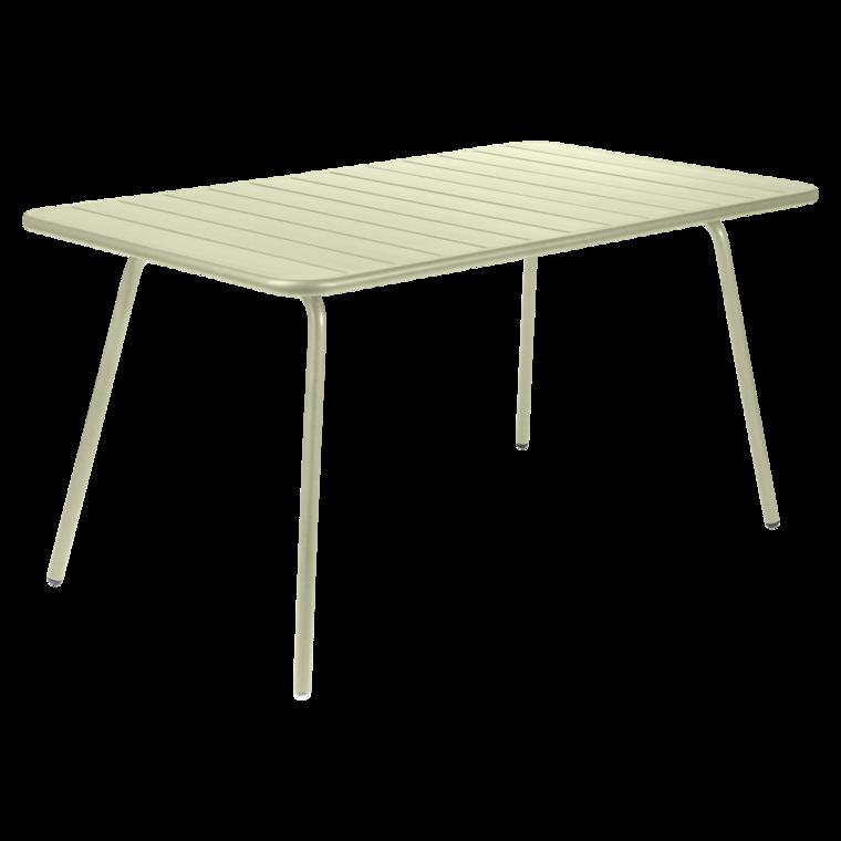 Table luxembourg de fermob tilleul for Table exterieur fermob