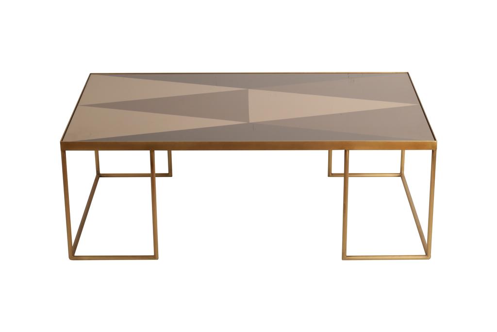 table basse geometric bronze de notre monde 102 x 61 x 36. Black Bedroom Furniture Sets. Home Design Ideas