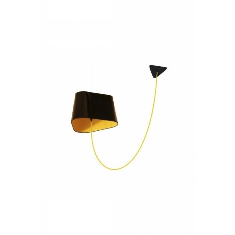 suspension d port e grand nuage de designheure noir et jaune fil jaune. Black Bedroom Furniture Sets. Home Design Ideas