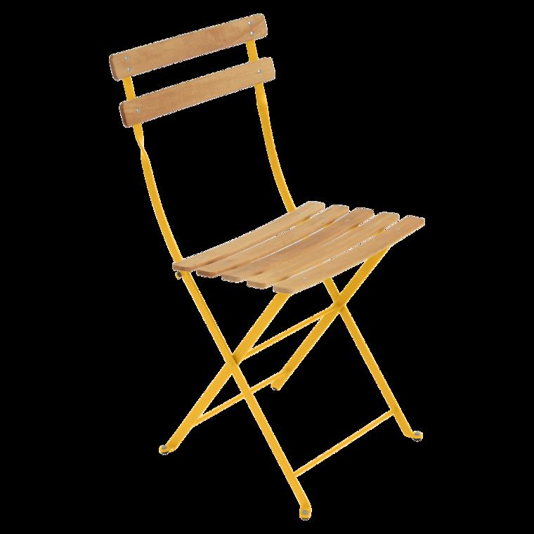 chaise bistro naturel bois de fermob miel. Black Bedroom Furniture Sets. Home Design Ideas