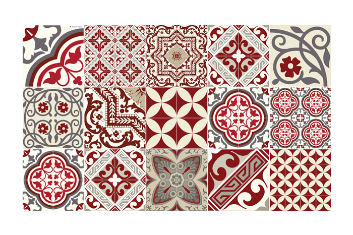 tapis eclectic rouge de beija flor 6 tailles. Black Bedroom Furniture Sets. Home Design Ideas