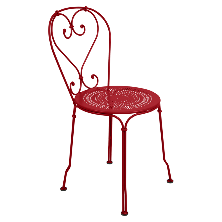 chaise 1900 de fermob coquelicot. Black Bedroom Furniture Sets. Home Design Ideas