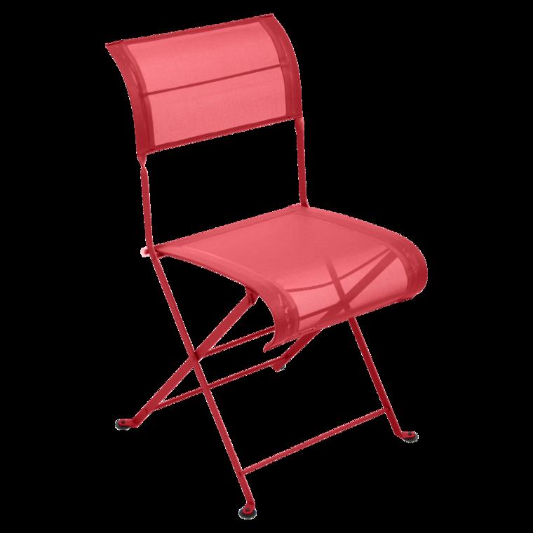 Chaise pliante dune de fermob coquelicot - Chaise pliante fermob ...