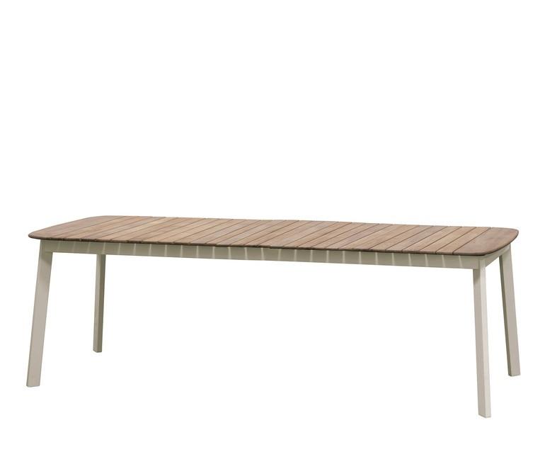 Table extensible SHINE de Emu, Piètement Blanc