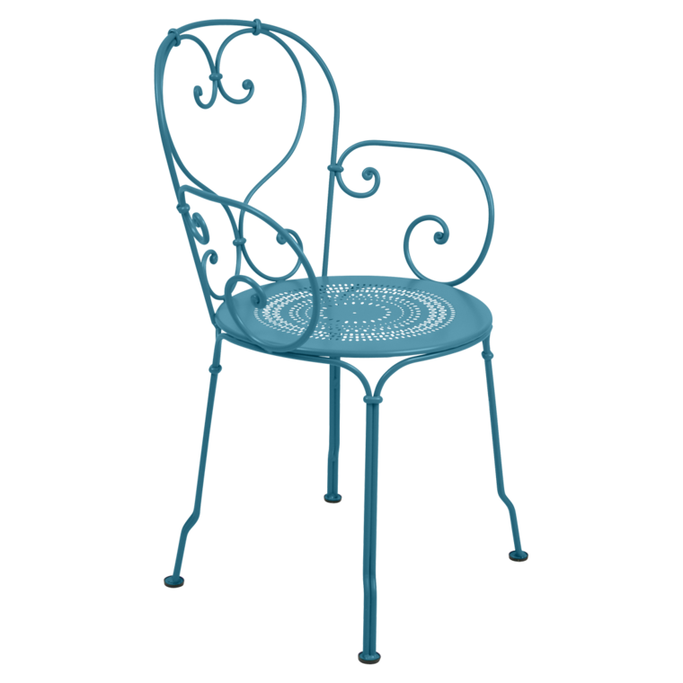 fauteuil 1900 de fermob bleu turquoise. Black Bedroom Furniture Sets. Home Design Ideas