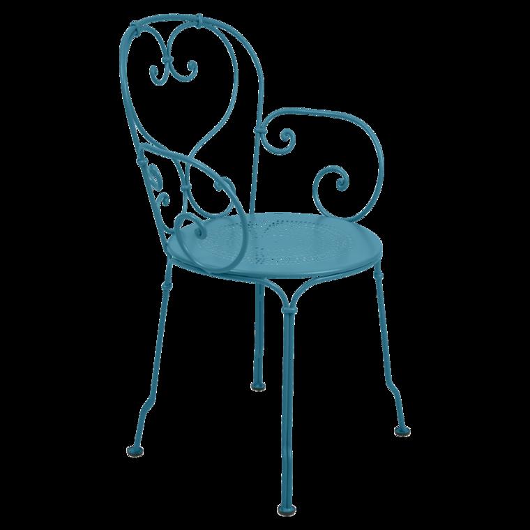 fauteuil 1900 de fermob bleu turquoise. Black Bedroom Furniture Sets. Home Design Ideas