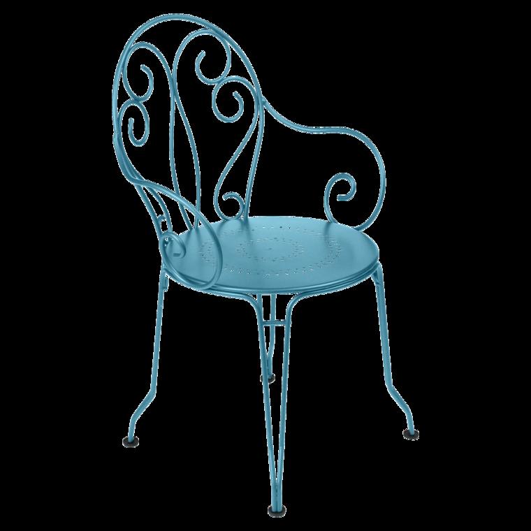 fauteuil montmartre de fermob bleu turquoise. Black Bedroom Furniture Sets. Home Design Ideas