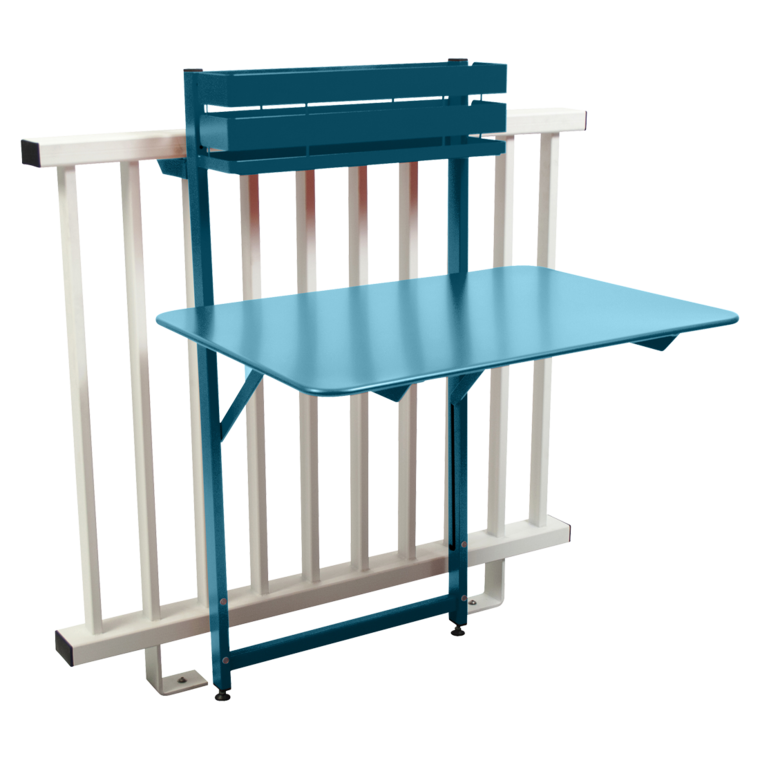 table balcon bistro de fermob bleu turquoise. Black Bedroom Furniture Sets. Home Design Ideas