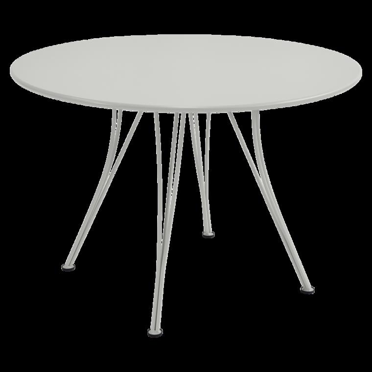 table ronde rendez vous de fermob gris m tal. Black Bedroom Furniture Sets. Home Design Ideas