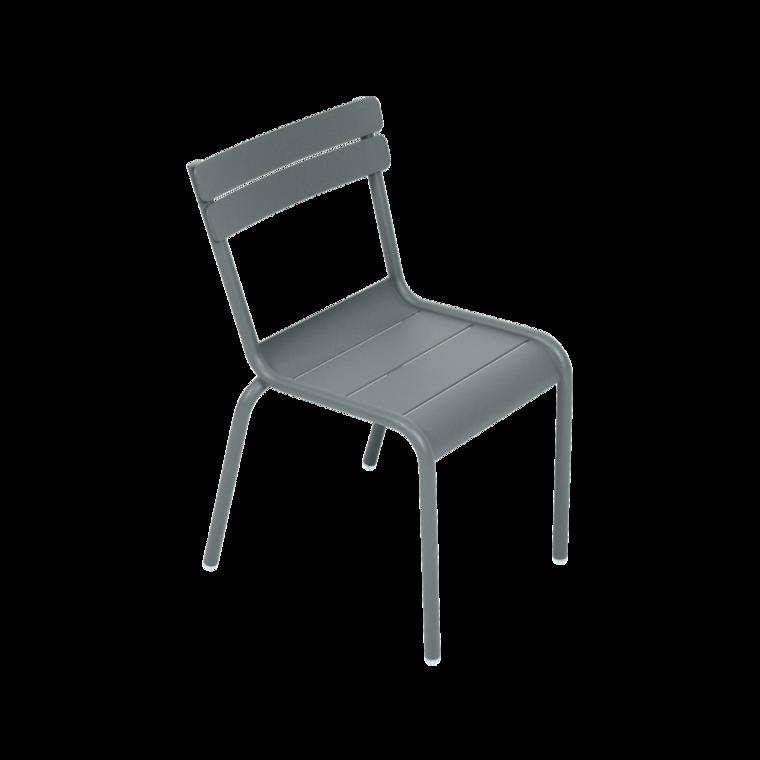 chaise enfant luxembourg kid de fermob gris orage. Black Bedroom Furniture Sets. Home Design Ideas