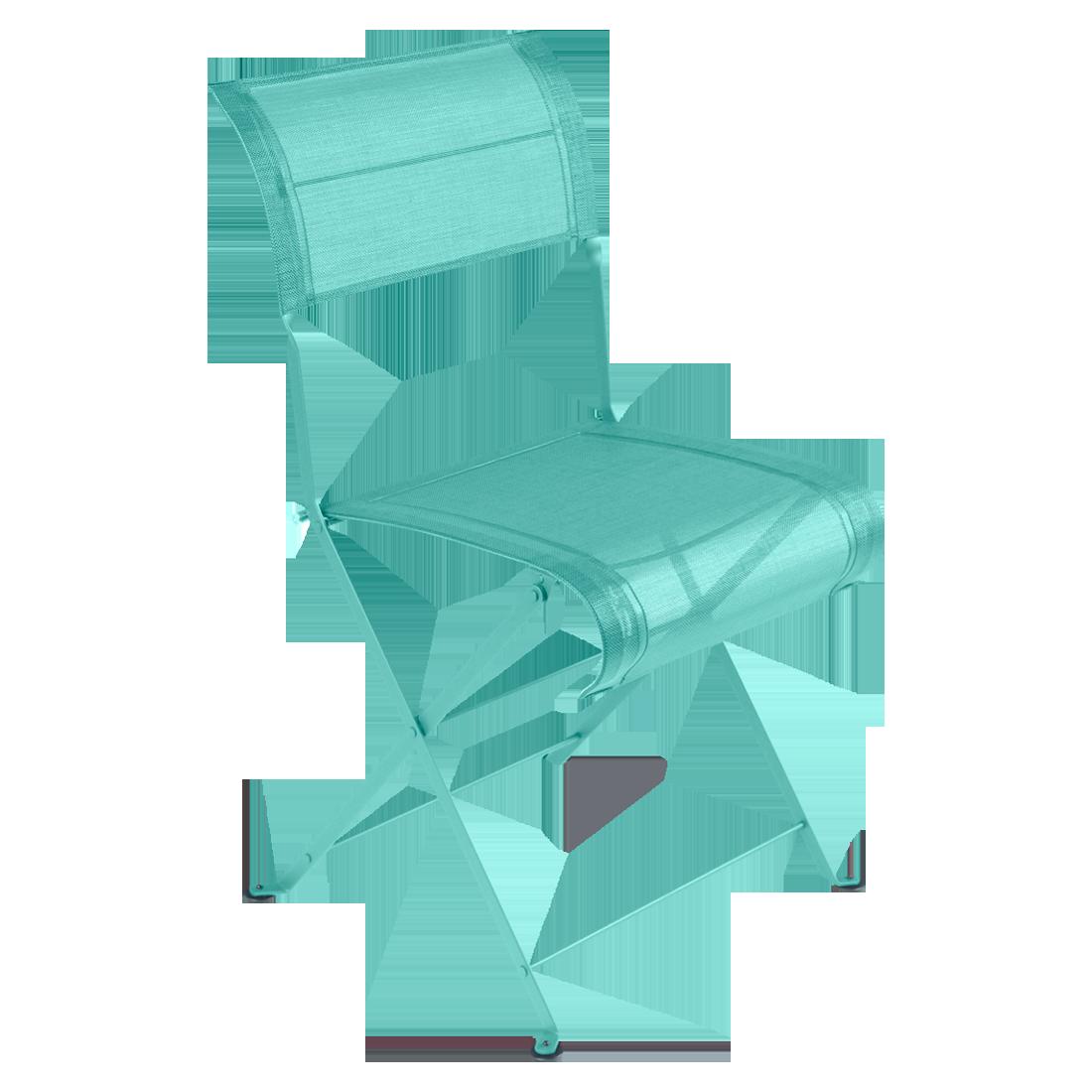 Chaise Pliante DUNE PREMIUM De Fermob Bleu Lagune