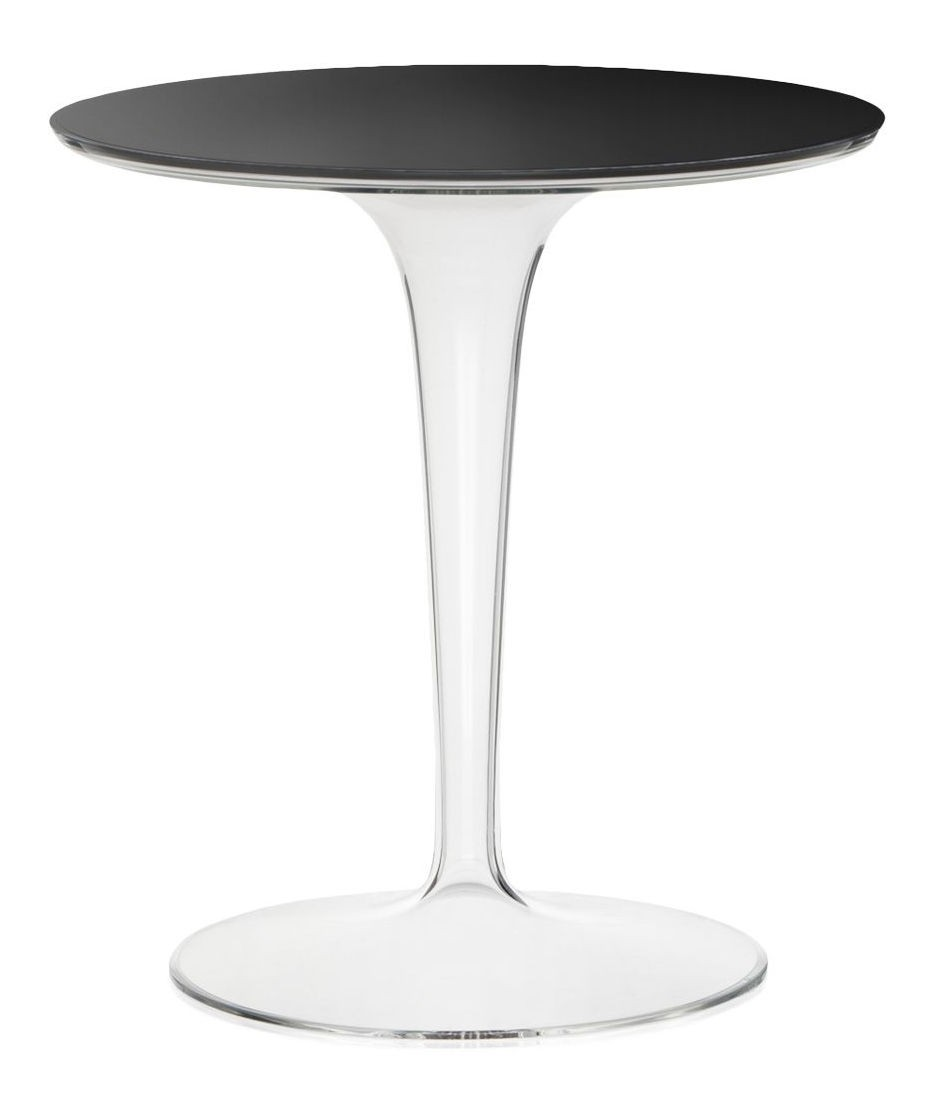 table ronde tip top de kartell plateau en verre noir. Black Bedroom Furniture Sets. Home Design Ideas