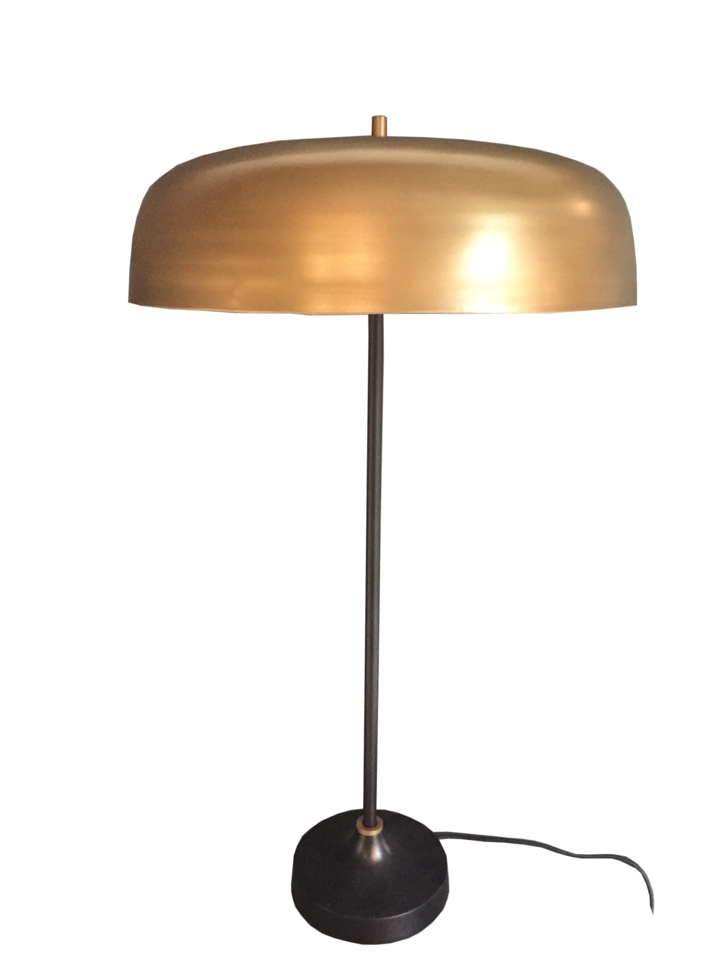 Lampe poser mushroom en laiton for Lampe a poser but