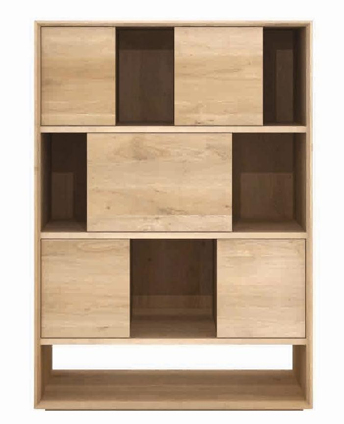 buffet oak nordic d 39 ethnicraft 5 portes coulissantes. Black Bedroom Furniture Sets. Home Design Ideas