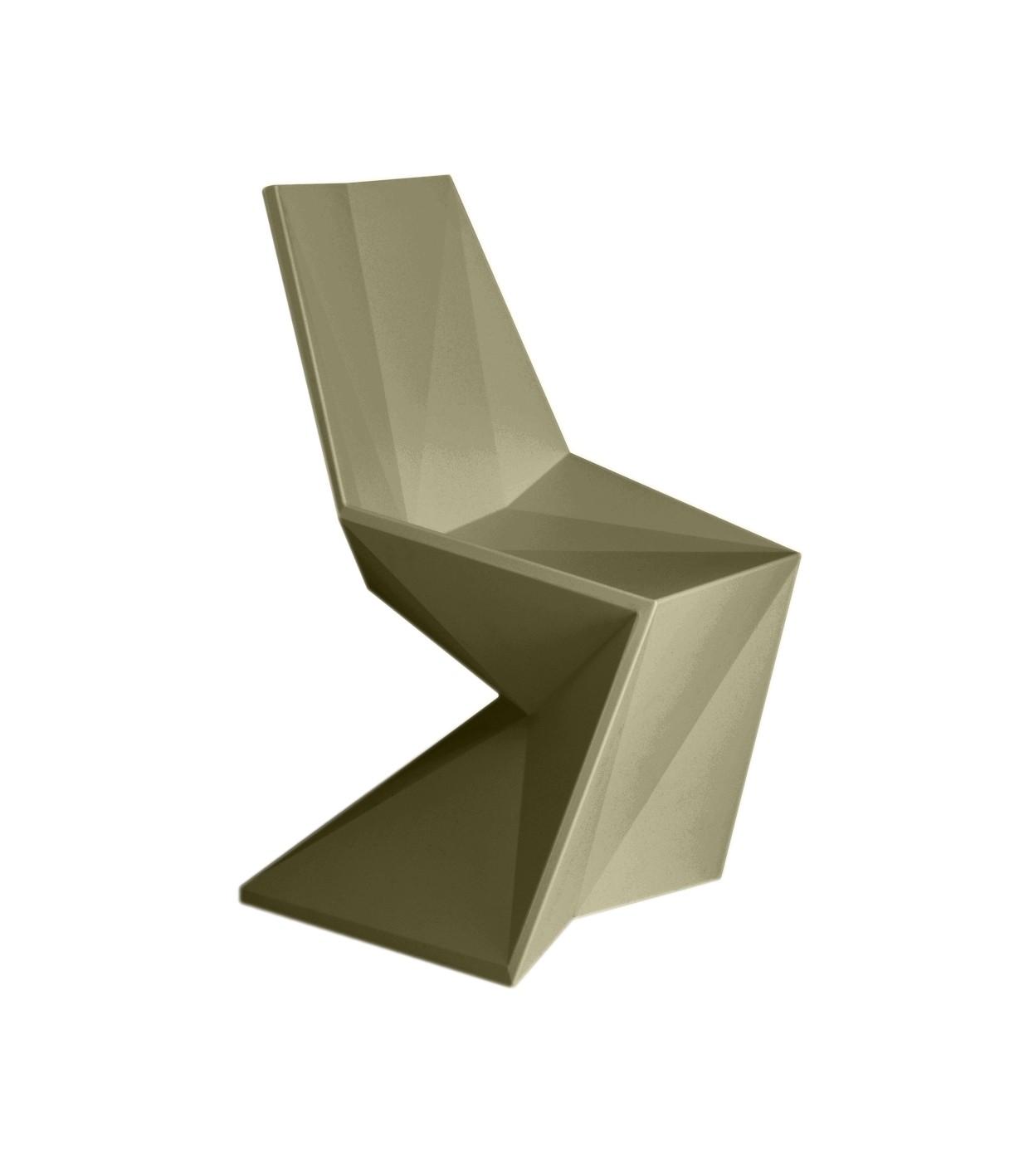 Chaise vertex de vondom kaki for Chaise kaki