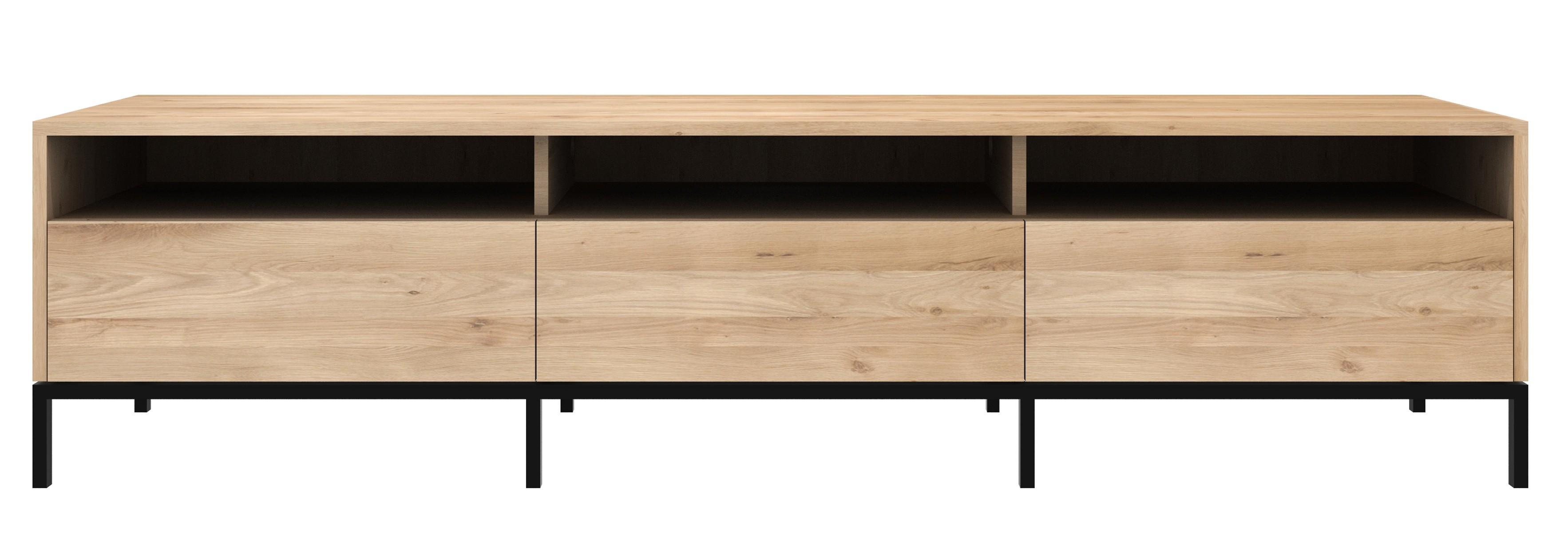 Meuble Tv Grande Taille meuble tv ligna d'ethnicraft, 2 tailles, chêne