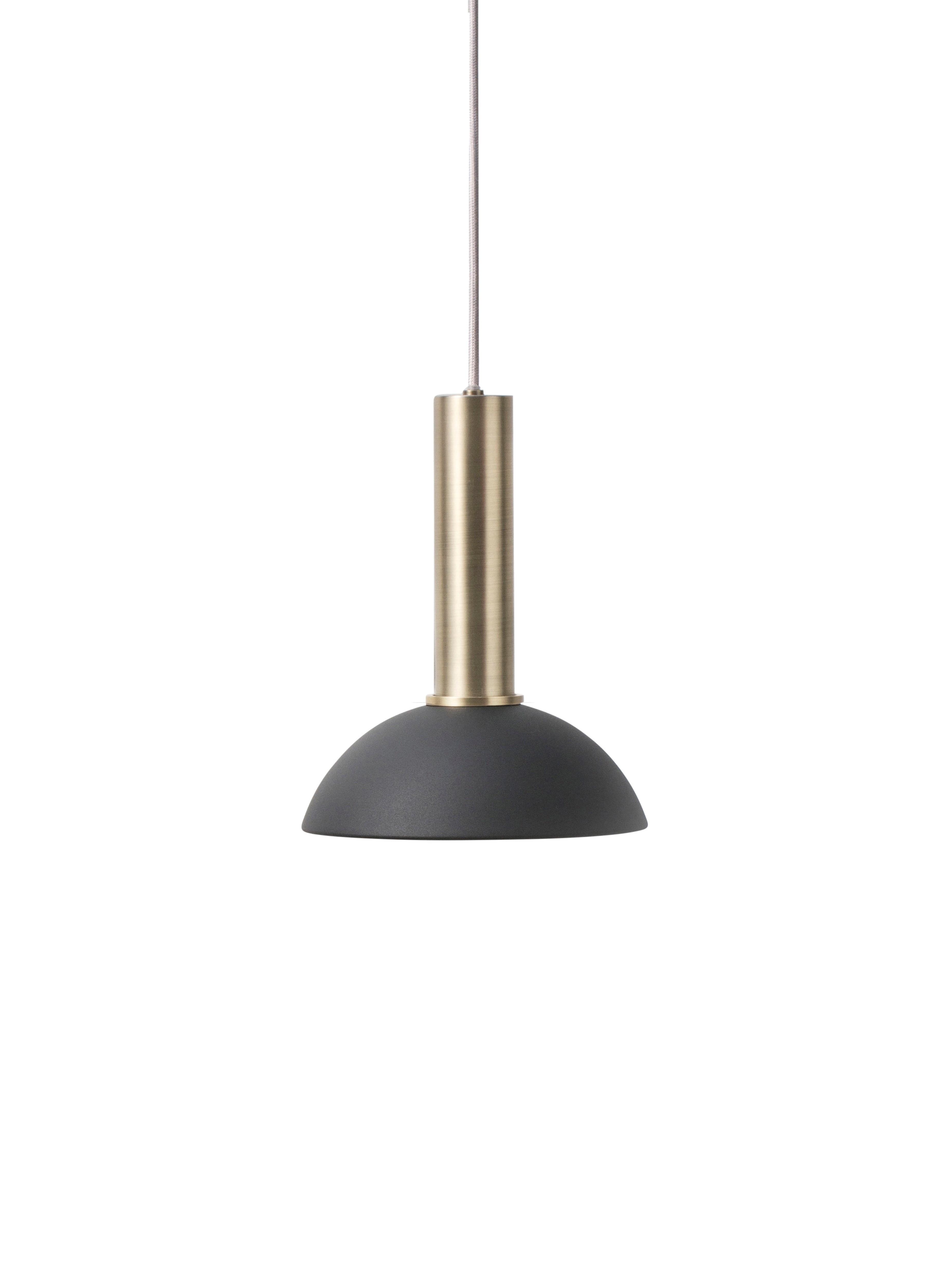 suspension collect 6 de ferm living socket high laiton black. Black Bedroom Furniture Sets. Home Design Ideas