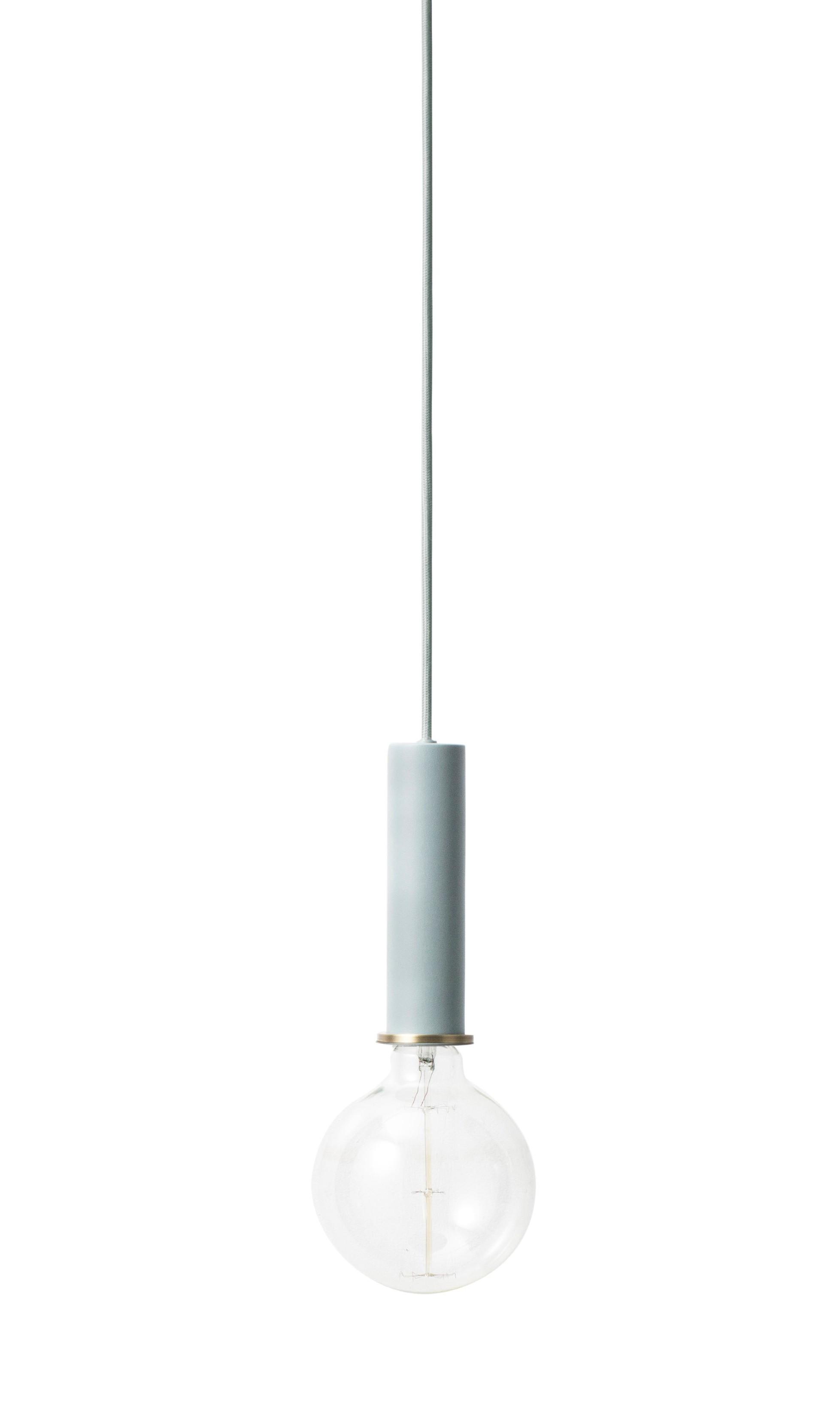 suspension socket high de ferm living dusty blue. Black Bedroom Furniture Sets. Home Design Ideas