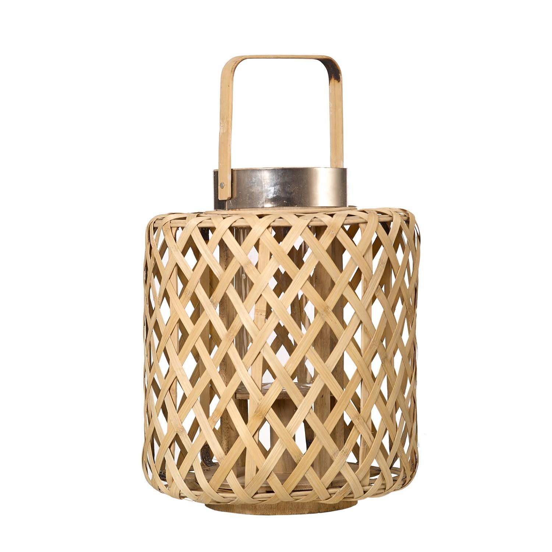 lanterne cross en bambou de pols potten 2 tailles. Black Bedroom Furniture Sets. Home Design Ideas