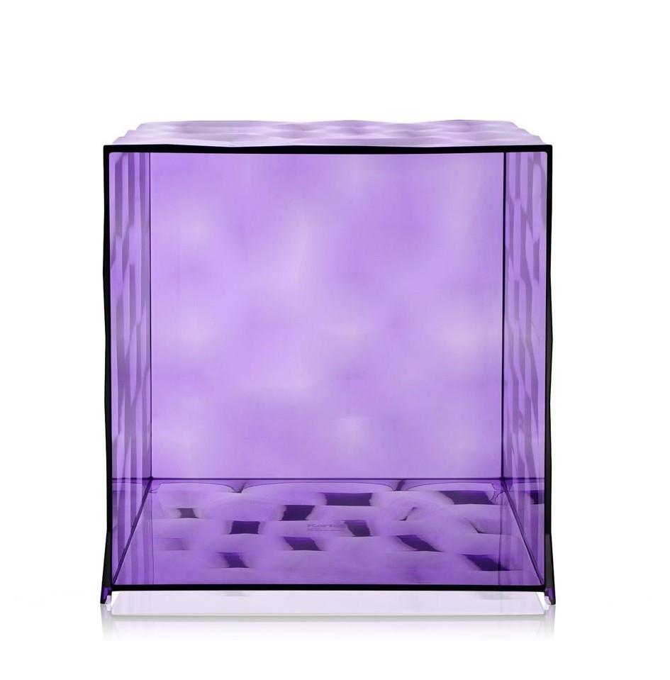 meuble de rangement cube optic sans battement de kartell. Black Bedroom Furniture Sets. Home Design Ideas