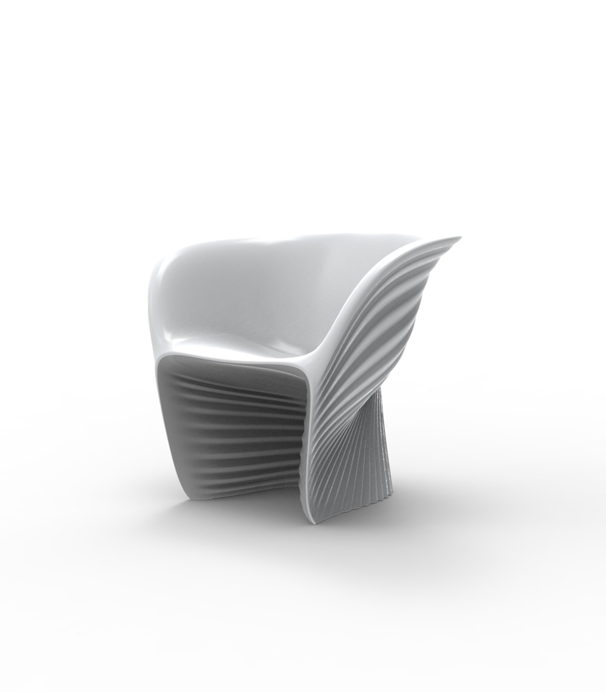 fauteuil bicolore biophilia de vondom acier. Black Bedroom Furniture Sets. Home Design Ideas