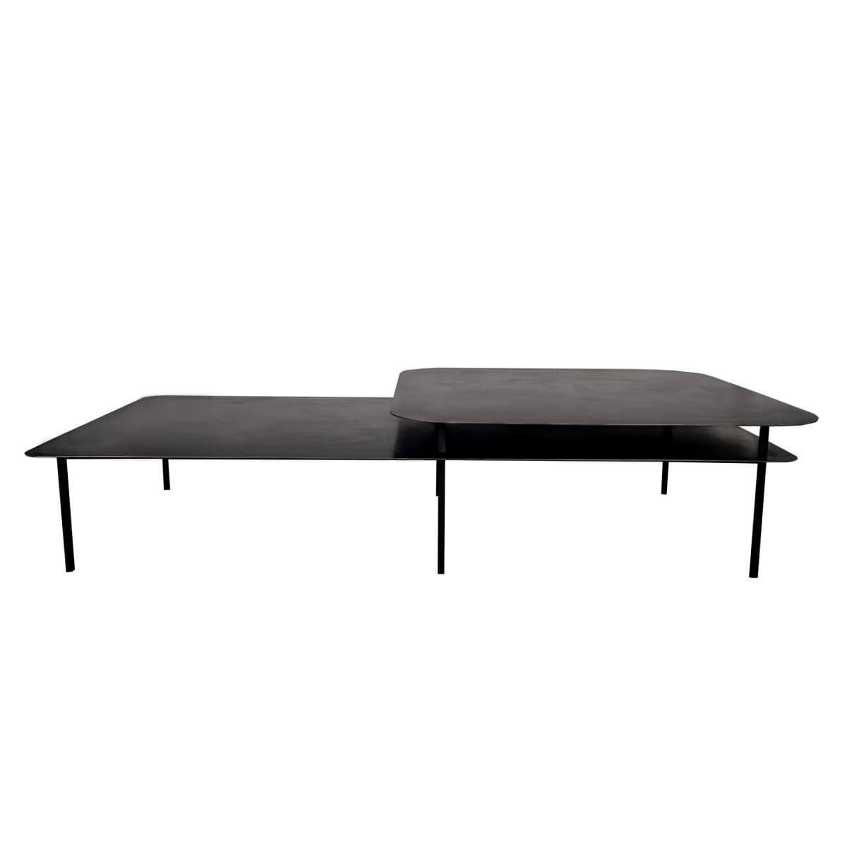 Table basse tokyo plateau d cal en acier de sarah lavoine for Table en acier