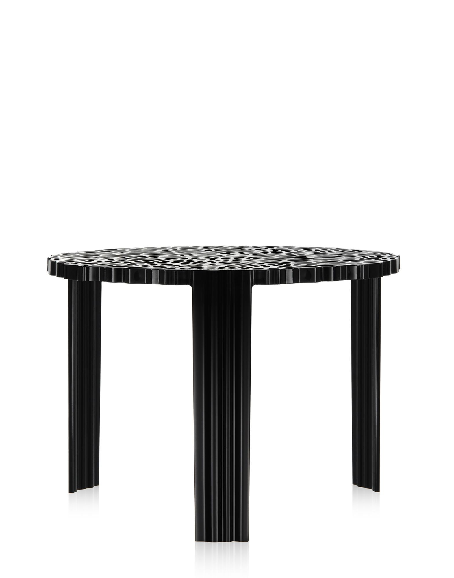 table basse t table de kartell noir. Black Bedroom Furniture Sets. Home Design Ideas