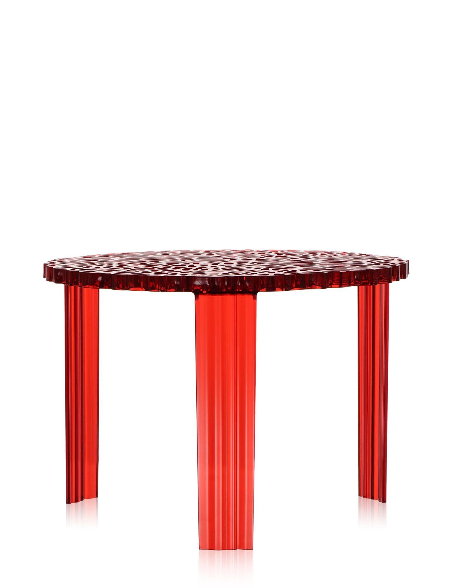 table basse t table de kartell rouge. Black Bedroom Furniture Sets. Home Design Ideas