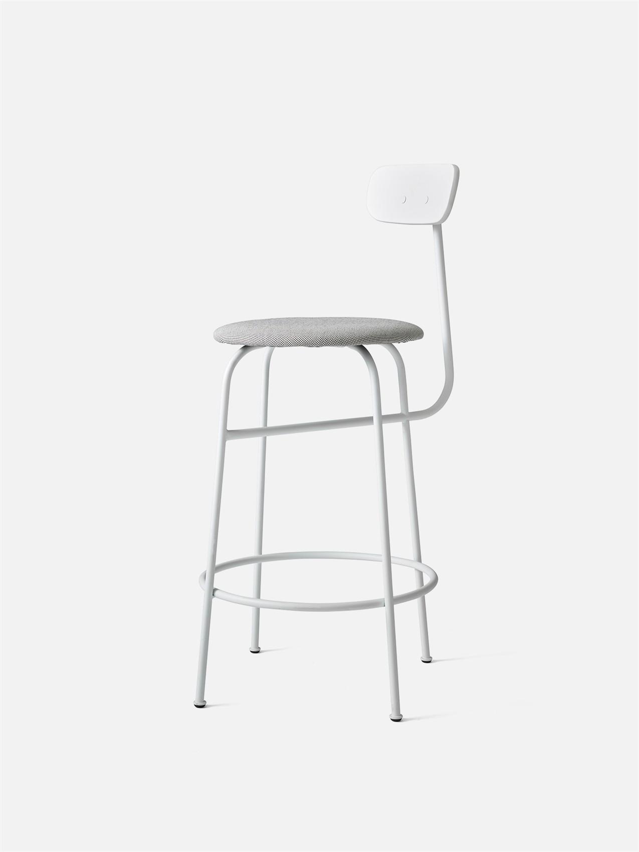 Chaise De Comptoir Afteroom Counter Chair De Menu Tissu Blanc