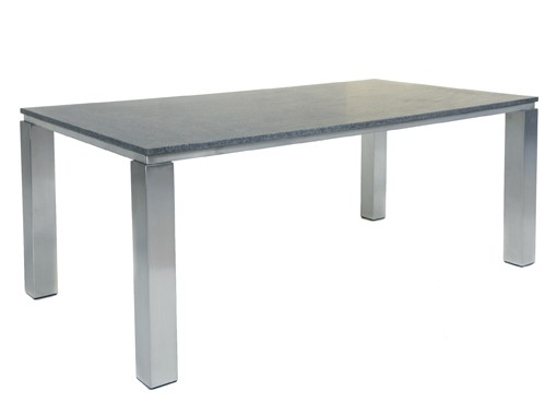table en inox et granit farina. Black Bedroom Furniture Sets. Home Design Ideas