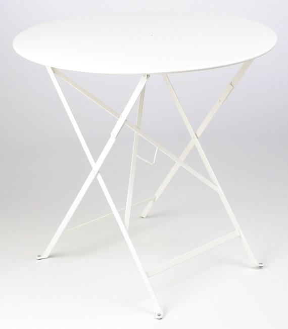 fermob table ronde pliante bistro de fermob x cm blan coton. Black Bedroom Furniture Sets. Home Design Ideas