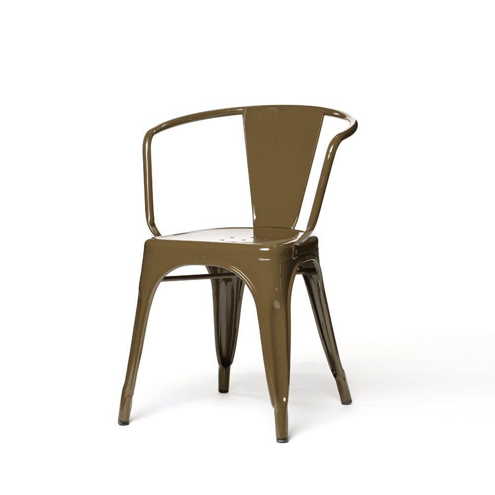 fauteuil a56 de tolix acier laqu muscade. Black Bedroom Furniture Sets. Home Design Ideas