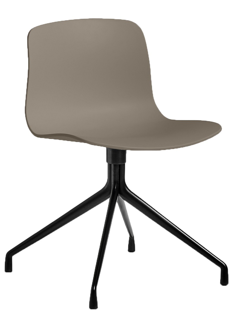 Chaise aac10 de hay pi tement en aluminium teint noir khaki for Chaise kaki