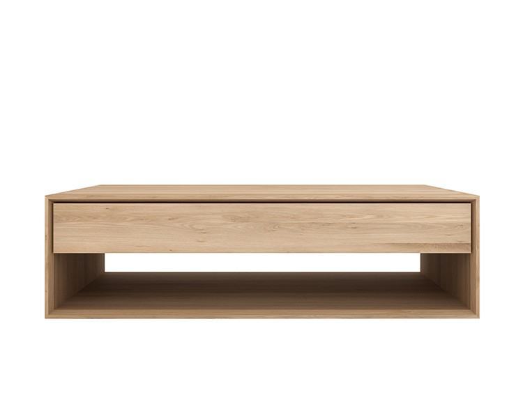 Table Nordic Basse Tailles D'ethnicraft1 Tiroir2 Oak WE9IH2D