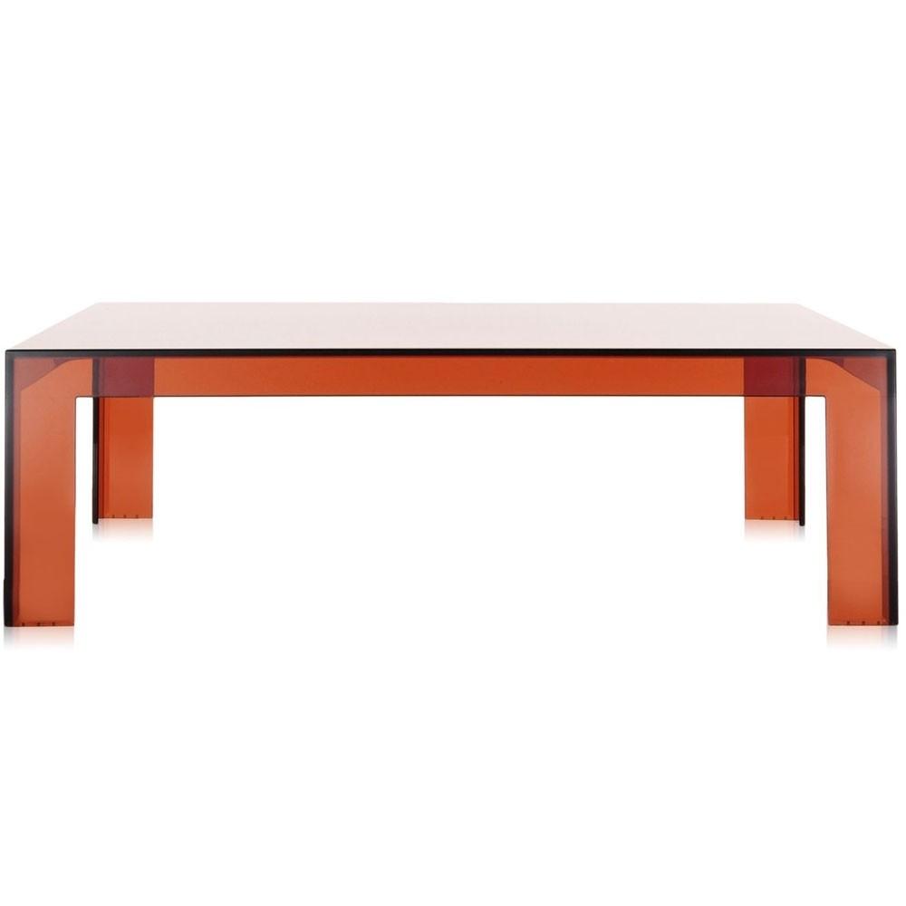Table Basse Invisible H 31 5 De Kartell Ambre