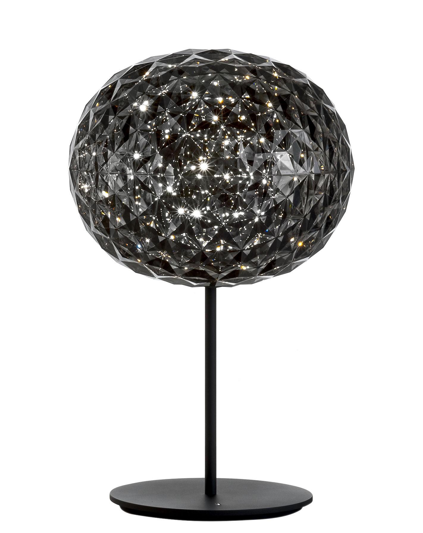 lampe poser planet de kartell fum. Black Bedroom Furniture Sets. Home Design Ideas