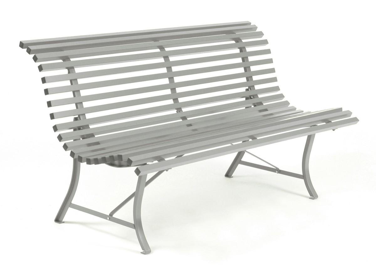 banc louisiane 150 de fermob gris m tal. Black Bedroom Furniture Sets. Home Design Ideas